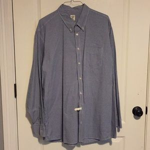Old Navy Navy/white Gingham Plaid Shirt 3XLT